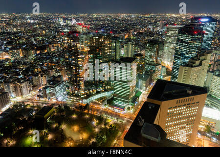 A panoramic city scape of Tokyo, Japan - Stock Photo