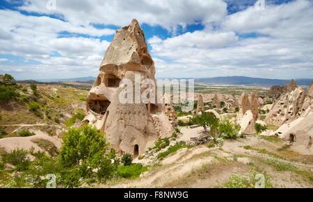 Cappadocia - stone house, Uchisar, Turkey, UNESCO - Stock Photo