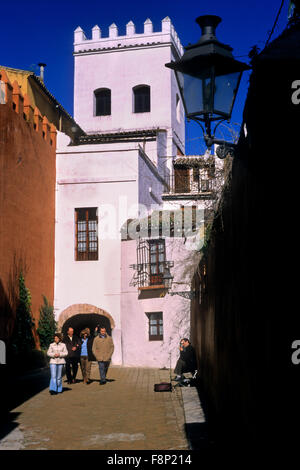 Narrow Alley in the Jewish Quarter of Cordoba Spain Stock Photo, Royalty Free...