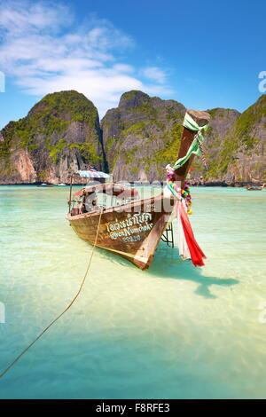 Thailand - Landscape of Maya Bay (close to Phi Phi Island), Asia - Stock Photo