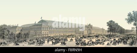 The Palais de l'Industrie, Exposition Universelle, 1855, Paris, France, - Stock Photo