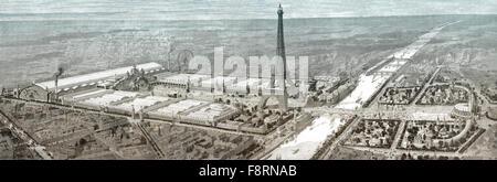 Exposition Universelle view, World Fair, 1900, Paris - Stock Photo