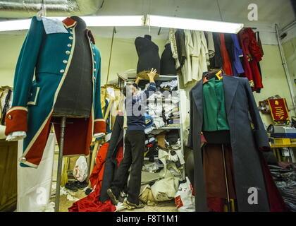 St.Petersburg, Russia. 16th Nov, 2015. Costumes at a Mariinsky Theatre sewing room. © Ruslan Shamukov/TASS/Alamy - Stock Photo