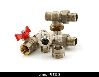 Various Metal Parts For Plumbing And Sanitary Ware Stock