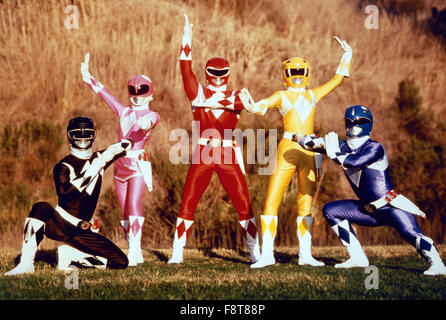 Mighty Morphin Power Rangers, Actionserie, USA 1993-1996, Darsteller: Walter Jones, Amy Jo Johnson, Austin St. John, - Stock Photo