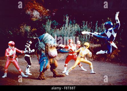 Mighty Morphin Power Rangers, Actionserie, USA 1993-1996, Darsteller: Walter Jones, Amy Jo Johnson, Austin St. John, - Stock Photo