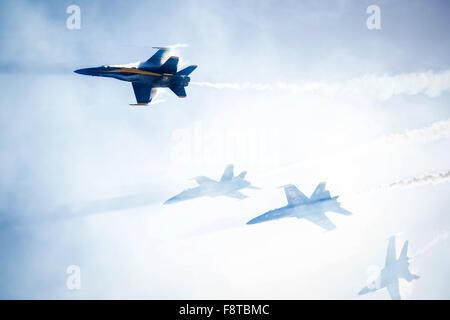 U.S. Navy flight demonstration squadron, the Blue Angels - Stock Photo
