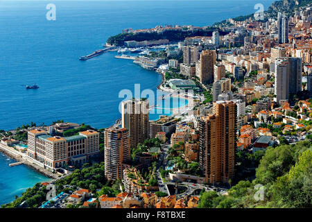 Monaco, over view on the city - Stock Photo