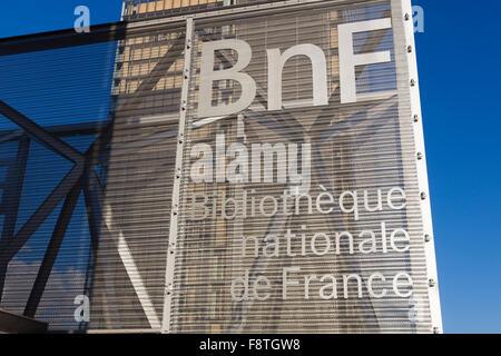 BNF, Francois Mitterrand National Library of France, Paris, Île-de-France, France - Stock Photo