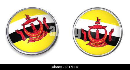 Banner Button Brunei - Stock Photo