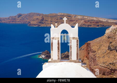 Oia Town, Santorini Island, Greece - Stock Photo