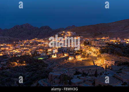 Local Bedouin Houses in Petra in Jordan - Stock Photo
