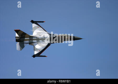 General Dynamics F-16 Fighting Falcon at UK air show.