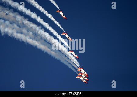 Aerobatic display jets - Stock Photo