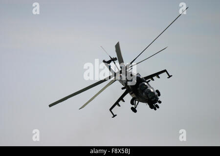 Attack helicopter in flight - Stock Photo