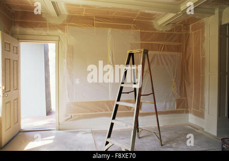 Interior Room Being Painted - Stock Photo