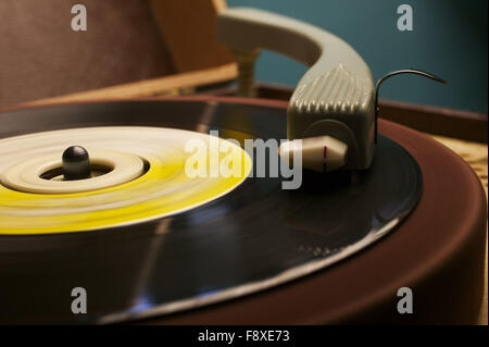 Old Fashioned Record Player - Stock Photo