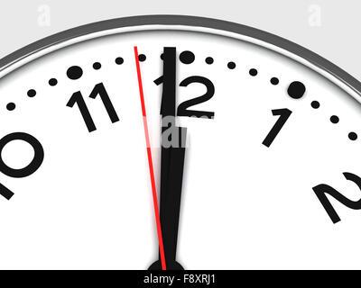clock on white - Stock Photo