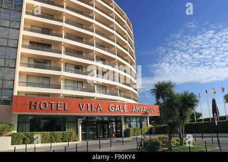 Reception entrance, Hotel Vila Galé Ampalius, Alameda Praia da Marina, Vilamoura, Quarteira, Algarve, Portugal, - Stock Photo