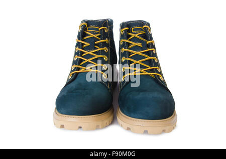 Heavy duty shoes isolated on the white - Stock Photo