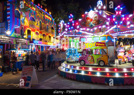The St Giles Fair, Oxford, United Kingdom - Stock Photo