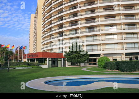 Children's paddling pool at Hotel Vila Galé Ampalius, Alameda Praia da Marina, Vilamoura, Quarteira, Algarve, Portugal, - Stock Photo