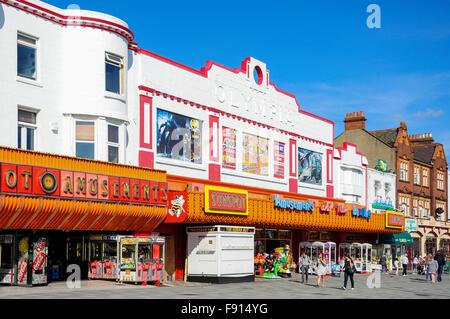 Seafront amusement arcades, Marine Parade, Southend-on-Sea, Essex, England, United Kingdom - Stock Photo