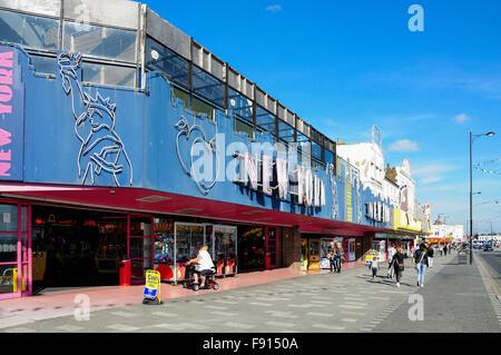 'New York' amusement arcade, Marine Parade, Southend-on-Sea, Essex, England, United Kingdom - Stock Photo