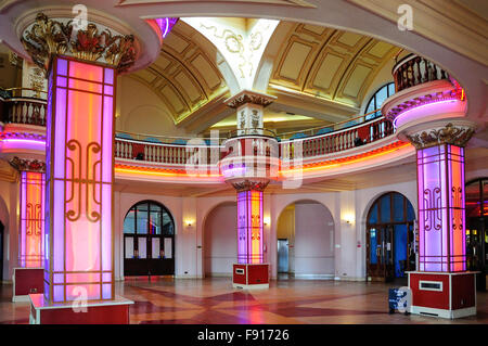 Interior foyer of The Kursaal amusement park, Marine Parade, Southend-On-Sea, Essex, England, United Kingdom - Stock Photo