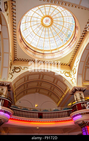 Interior dome of The Kursaal amusement park, Marine Parade, Southend-On-Sea, Essex, England, United Kingdom - Stock Photo