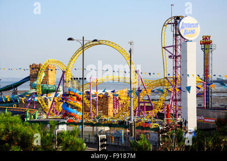 Adventure Island Theme Park, Western Esplanade, Southend-on-Sea, Essex, England, United Kingdom - Stock Photo