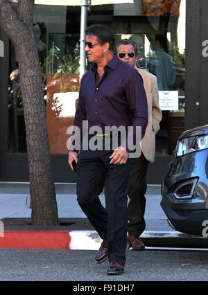 Beverly Hills, California, USA. 12th Dec, 2015. Sylvester Stallone Holiday Shops Beverly HIlls, CA, USA Credit: - Stock Photo