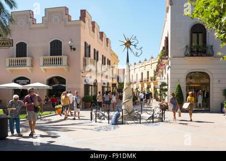 small square at la roca village designer outlet shopping la roca del valls
