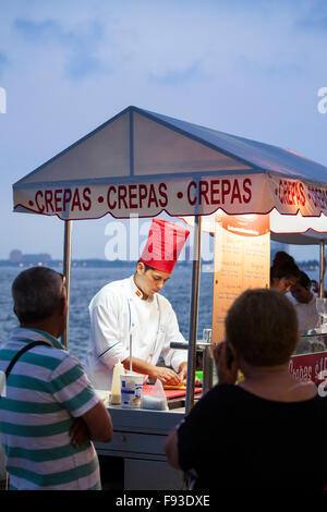 Crepes stand on the malecon in Puerto Vallarta, Mexico. - Stock Photo