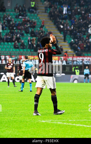 Milan, Italy. Decembe 13th, 2015. L. Adriano of AC Milan during the Italian Serie A League soccer match between - Stock Photo