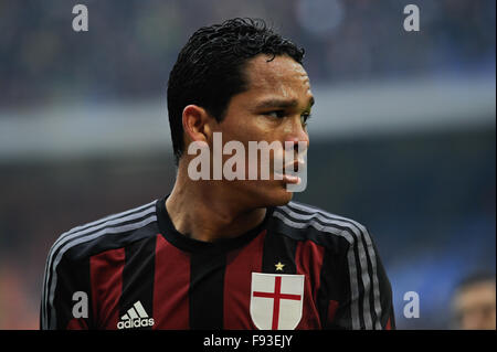 Milan, Italy. Decembe 13th, 2015.  Carlos Bacca of ACMilan during the Italian Serie A League soccer match between - Stock Photo