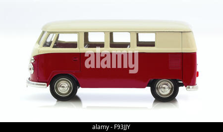Classic Old VW Camper Made By Corgi on a White Background - Stock Photo