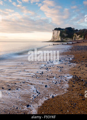 The White Cliffs of Dover at St. Margaret's Bay, Dover, Kent. - Stock Photo