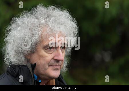 Queen guitarist Brian May. - Stock Photo