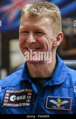 Baikonur, Kazakhstan. 14th Dec, 2015. ISS Expedition 47/46 crew member, ESA astronaut Timothy Peake of the United - Stock Photo