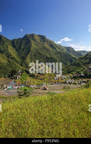 Agricultural rice terraces from Batad Philippines - Stock Photo