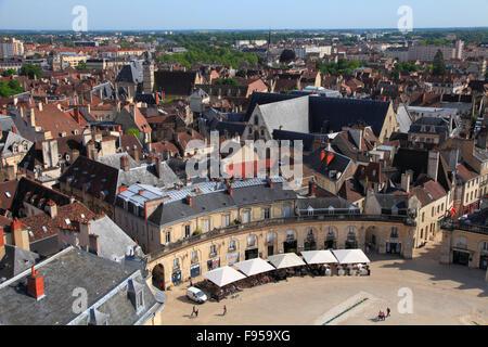 France Bourgogne Dijon Place de la Libération aerial view - Stock Photo