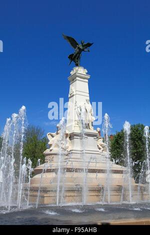 France Bourgogne Dijon Place de la République fountain - Stock Photo