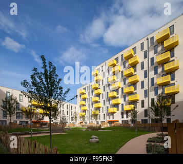 Ocean Estate, Stepney Green. The Ocean Estate project is a new build development of 462 mixed tenure housing, made - Stock Photo