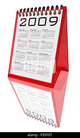 Desktop calendar 2009 - path - Stock Photo