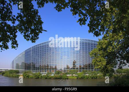 France, Alsace, Strasbourg, European Parliament, - Stock Photo