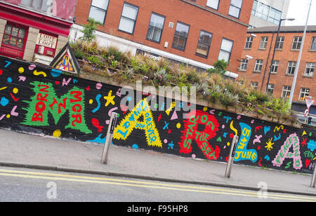 Street art in Stevenson Square, Lever Street, Manchester city centre, UK. - Stock Photo