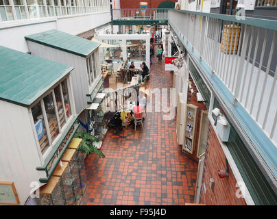 Interior of the Manchester Crafts and Design Centre on Oak Street, in the Norther Quarter of Manchester, UK. - Stock Photo