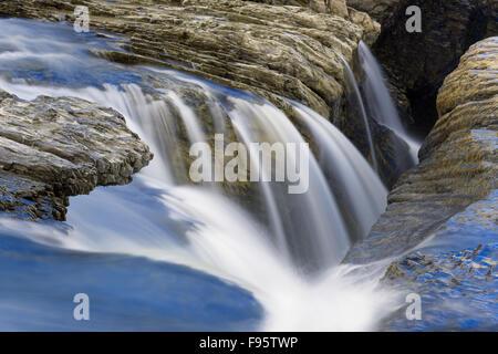 The Kicking Horse River at the Natural Bridge, Yoho National Park, BC, Canada - Stock Photo