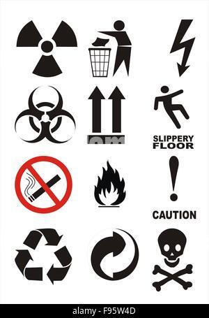 Useful Warning Symbols - Stock Photo